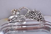 Godinger Silver Plate Covered Casserole with Serving Spoon and One Other Footed Covered Casserole