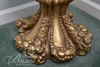 Gold Female Statue Holding Grapes on Base