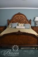 King Size Heavily Carved Bed with Headboard and Footboard