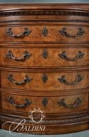 Heavily Carved Mirrored Dresser with (12) Drawers