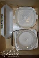 Corning Ware Casseroles with 2 Stands