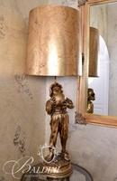Gold Gilt Boy With Jug and One Shoe Lamp