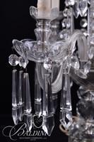 Pair Large Crystal Electric Candelabras