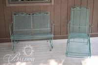 Wrought Iron Glider and Lounger
