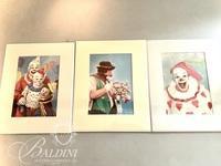 Clown Prints, Paper Mache Clown and Clown on Swing