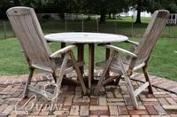 Westminster Teak Round Table and (6) Chairs