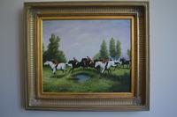 Oil on Canvas Hunting Scene