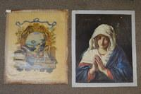 (2) French Canvas Paintings