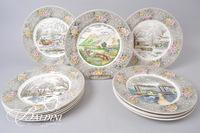 (12) Engravings for the People China Plates Depicting Historical Scenes and Events
