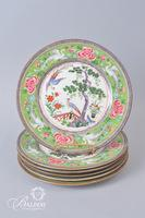 (6) Crown Stafforshire Asian Theme Plates