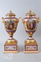 Fine Porcelain Beehive Portrait Urns