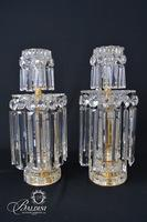 Pair George IV Ormolu Cut Glass Candlesticks CA 1825
