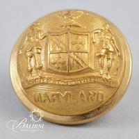 Non-Excavated Maryland State Seal Three-Piece Staff Coat Button