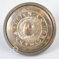 Non-Excavated Georgia State Seal Two-Piece 24mm Button