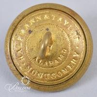 """Non-Excavated Lined Two-Piece Manuscript Old English """"I"""" Infantry Button"""