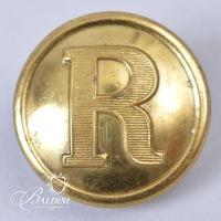 "Non-Excavated Two-Piece Confederate ""R"" Rifleman 23mm Button"