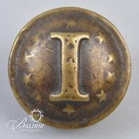 "Non-Excavated Two-Piece Confederate ""I"" Infantry 24mm Button"