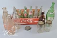 (17) Glass Bottles and Wooden Coca-Cola Crate