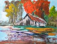 Anna Sandhu Ray Original Oil on Paper, Signed