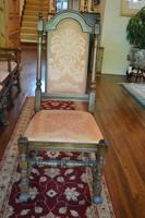 (8) Early English Highback Dining Chairs