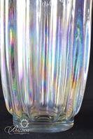Opalescent Iridescent Leaded Vase and Dish