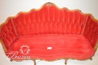 Antique Victorian Tufted Back Settee