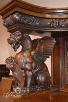 R.J. Horner China Cabinet With Carved Griffins Late 19th Century
