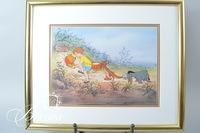 """""""Winnie The Pooh and the Honey Tree"""" Hand Painted Character Cel 393/500"""