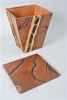 """Kevin Harrington"" Bamboo Style Trinket Box"
