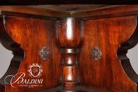 Very Large Solid Wood Round Table on Base