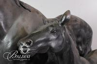 """Life Size Horse Statuary Believed to be Bronze, by """"Kathy"""""""