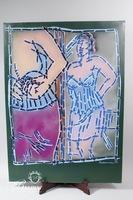 """Paul Harmon""""Le Mirroir"""" Original Oil on Canvas 1993, Signed"""