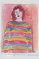 """Paul Harmon """"Sweater of Many Colors"""" Limited Edition Giclee Print, Signed and Numbered 5/6"""