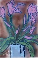 "Paul Harmon ""Iris"" Original Mixed Media Including Acrylic and Enamel on Paper, Signed"