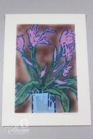 "Paul Harmon ""Iris"" Original Mixed Media Including Acrylic and Enamel on Paper, Signed"