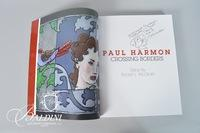 "Artist Signed Paul Harmon Book ""Crossing Borders"""