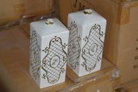 "20+/- Boxes ""Paris Royal"" Porcelain Oil Lamps"