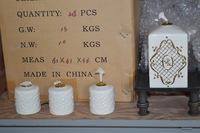 """20+/- Boxes """"Paris Royal"""" Porcelain Oil Lamps"""