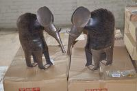 23+/- Boxes Includes Metal/Leather Elephants, Glitter Floral Picks and Candle Holders