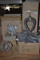 30+/- Boxes Glass Chargers and Ornaments