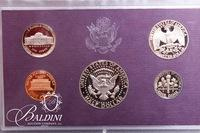 1984-1993 US Proof Set Coins (Partial Box) with COA