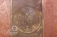 Third Reich Insignia and Wood Mount
