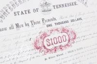 1862 Confederate Bearer Bond with Coupon