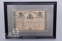 1859 Union Bank Stock Certificate