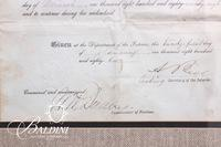 1882 Widow's Pension Certificate Dated January 21, 1888