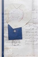 1839 Commission to the British Royal Army of Lieutenant with Official Seal of the Queen, Signed