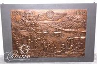 Sandor Bodo (b. 1920) Important Large Original Dimensional Bronze Wall Mount Sculpture Dated 1996