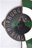 1940s Nurburgring Enameled Porsche Grille Badge