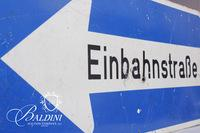 German Einbahnstraße (One Way Street) Metal Sign