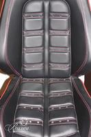 Black Leather Ferrari Adjustable Desk Chair